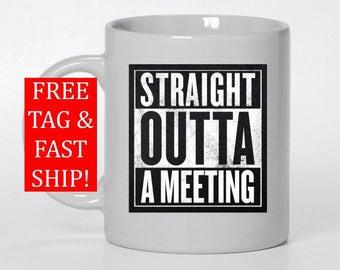 Office humor, Straight out of compton, NWA, Coffee mug, Coffee mugs with sayings, Coffee cup, Custom mug, Personalized mug