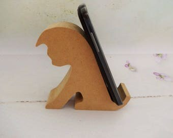 Smart Phone Stand, MDF iPhone Stand, DIY Smart Phone Stand, Decoupage iPhone Stand, Mobile Phone Stand, Mobile Phole Holder