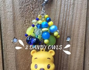 Winnie the Pooh Purse Charm, Bag Charm, Purse Jewelry