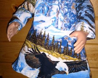 Dress for 18 inch doll. Eagle design