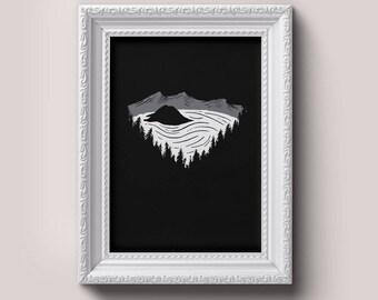 Crater Lake Print | Adventure, Wander, Travel, Cabin Decor, Outdoors, Pacific Northwest, Printable Art, Digital Download
