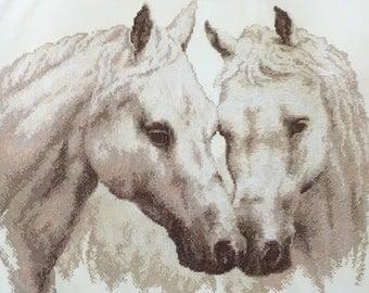 White Horses by Panna Cross Stitch Kit 43.5cm x 36.5cm