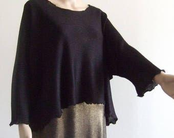 The length extra-large medium in beautiful wire black Merino sweater