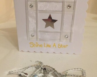 Shine like a star greeting/congratulations card