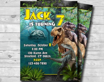 Jurassic World Invitation-Jurassic World Birthday Invitation-Jurrasic Park-Jurassic World Party-Jurassic Park Invitation-Digital