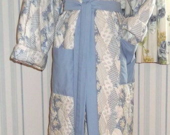 Hand Stitched Patchwork Quilted Dressing Gown