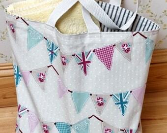 Handmade Reversible Tote Beach Bag