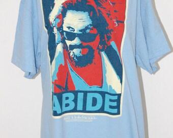 Vintage Big Lebowski ABIDE Obama Spoof T Shirt