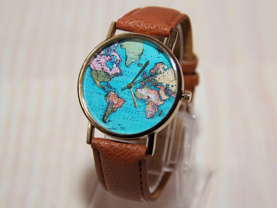 Wristwatches travelers wristwatch world map globe clock wristwatches travelers wristwatch world map globe clock womens watch mens watches watch gift world map watch clock on a journey gumiabroncs Image collections