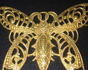 Art Deco filigree lovely butterfly pin