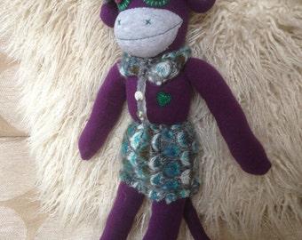 Handmade sock monkey dolls, each one unique & full of character !