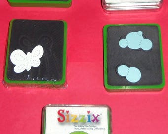 Choice Of Sizzix Green Die Bubbles, Butterfly #1, Soccer Ball, Sun #2, Turtle