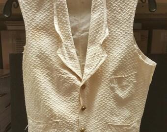 Antique Civil War Union Veteran GAR Vest with Brass Buttons made in Waterbury CT