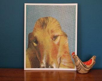 Dog Collage - Saint - 4 Color Screenprint