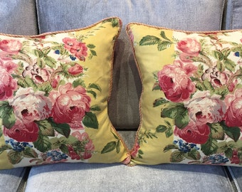 Colefax and Fowler floral cushion