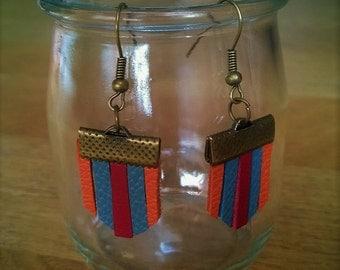 Leather earrings multicolor