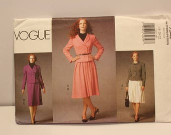 Vogue 7342-Plus size jacket and skirt