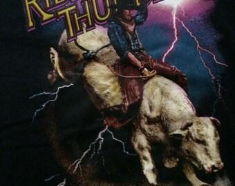 Vintage Ride the Thunder cowboy shirt