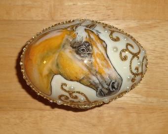 Goose Egg Box - Palomino Horse