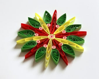 Set of 3 Quilled Snowflakes, Handmade Paper Quilling Art, Cute Home Decoration Idea, Christmas Decoration, Christmas Ornaments,FREE SHIPPING
