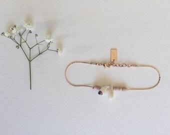 Shells - gilded Gold Bracelet pink 1 micron