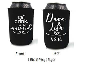 Wedding Favors- Wedding Can cozie- Customized can coolers- Wedding Favors- Wedding Gifts- Wedding Favors for Everyone-  inexpensive