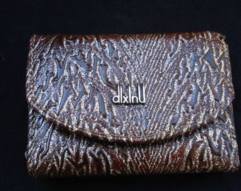 Vintage Ladies Leather Wallet Purse Coin Card/1980s