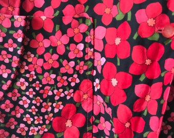 60s Floral Blouse / Shift Jacket