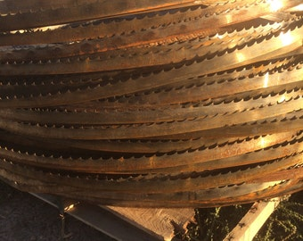 Rusty Band Saw Blades, rustic craft material, rusty metal