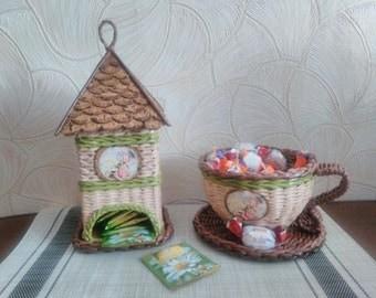 Set for tea drinking, tea house