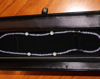 """14KW Faceted Tanzanite 17 1/4"""" Necklace"""