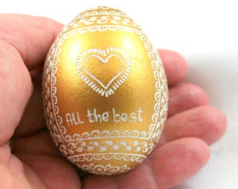 Easter egg , Egg with inscription , gift for women , wedding gift , Gift for father , pysanka, Hand Decorated , unique, easter eggs , spring