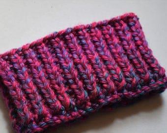 Magenta, Chunky Knit Headband, Chunky Knit Ear Warmers