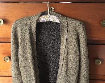 Cute gold 80's cardigan size small