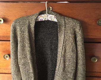 Cute Gold 80 's cardigan size small