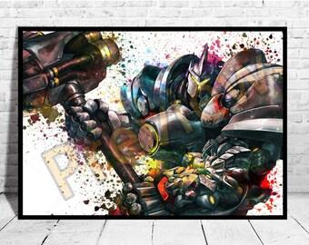 Reinhardt, Game Art, Overwatch Reinhardt, Overwatch Poster,AG121