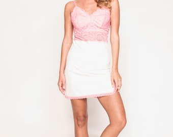 Pink and White Chemise