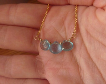 Necklace with blue gemstone