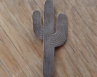 Vintage Navajo Cactus Pin Brooch - by artist Kristi David 1988
