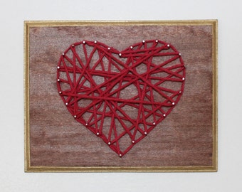 Heart String Art Kit