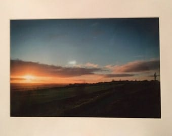 Mounted photograph - Yorkshire Dales Sunset