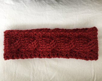 Crocheted Cable Ear Warmer/Headband