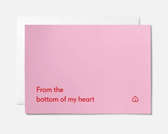 ON SALE / Funny anniversary card / Funny valentines card / Rude anniversary card / Bottom of my heart