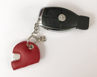Motorcycle helmet Keyring leather