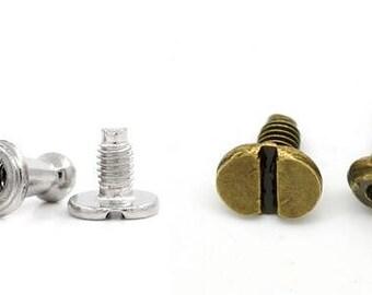 screw rivets etsy. Black Bedroom Furniture Sets. Home Design Ideas