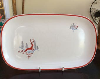 Crown Devon Fieldings long sandwich plate