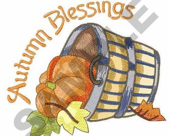 Autumn Blessings - Machine Embroidery Design