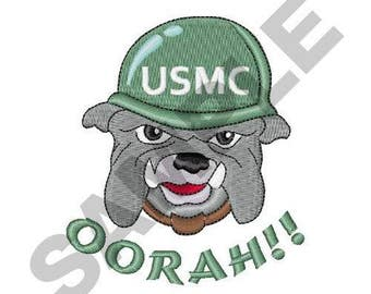 USMC Oorah - Machine Embroidery Design