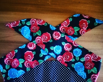 Traditional Tattoo Rose Reversible Head scarf
