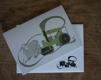Steam Roller // Steam Stack // Greetings Card